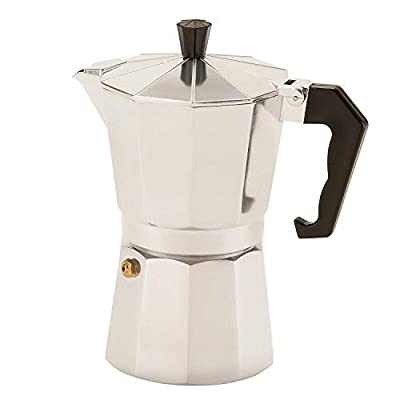Royalford Italian Espresso Coffee Maker - Traditional Moka Stove Top Macchinetta with Gasket and Filter Included