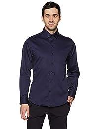 John Players Men's Printed Slim Fit Formal Shirt