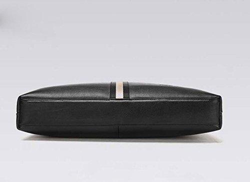 Herren Tasche Handtasche Leder Querschnitt Dokument Computer Tasche Schulter Diagonale Paket Black