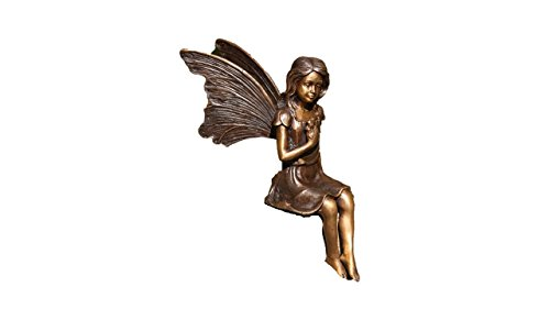 Bronze Fee Kantenhocker, Skulptur aus Bronze