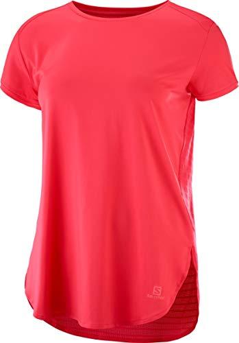 SALOMON Damen Comet Breeze Tee Kurzarm-Shirt, Pink (Hibiscus), S