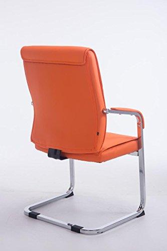 CLP XXL Freischwinger-Stuhl mit Armlehne ANUBIS belastbar bis 260 kg gepolstert orange - 2