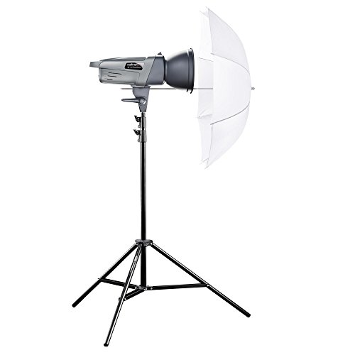 Walimex Pro VE-150 Excellence Einsteiger Studio-Set (Studioblitz 150Ws, Lampenstativ, Durchlichtschirm)