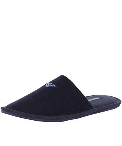 Emporio Armani Uomo pantofole Logo, Blu, Medium