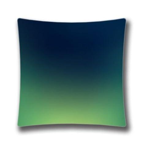 Zipper Design Aero Green And Dark Blue Throw Pillowcase, 18x18 inches Pillow Sham (Twin sides)
