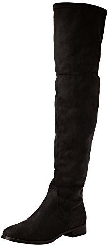 Steve Madden Footwear Damen Odessa Overknee Boot Stiefel, Schwarz (Black), 38 EU (Boots Black Knee Pu High)