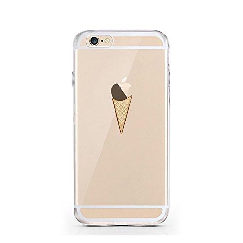 iPhone 5 5S SE Hülle von licaso® für das Apple iPhone 5SE aus TPU Silikon Apfel Apple-Juice Saft-Tüte Apfel-Saft Muster ultra-dünn schützt Dein iPhone 6 & ist stylisch Schutzhülle Bumper in einem (iPh Eis