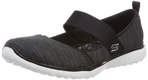 Skechers Damen Microburst - Tender Soul Slip On Sneaker, Schwarz (Black White BKW), 38 EU (Schuhe Skechers Damen White)