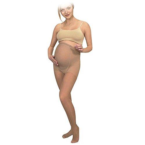 KOMPRESSIONSSTRUMPFHOSE für Schwangere, Umstands- Schwangerschafts- Stütz-Strumpfhose (L, Schwarz) (Kompression Mmhg 20 Strumpfhosen)