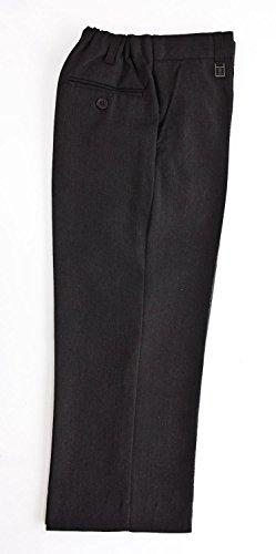 Jungen-Hose, Taille-Einstellknopf, in Schwarz, Grau oder Navy-blau –Alter 3–12, schwarz -
