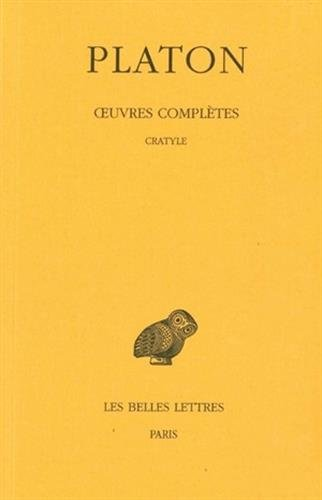 Oeuvres complètes, tome 5 (2e partie) : Cratyle