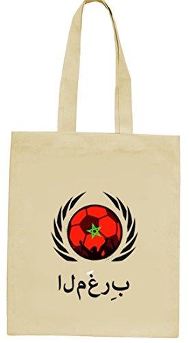 Marocco Football Wm Fanfest Groups Natura Iuta Borsa Di Stoffa Tote Bag Calcio Morocco Natura