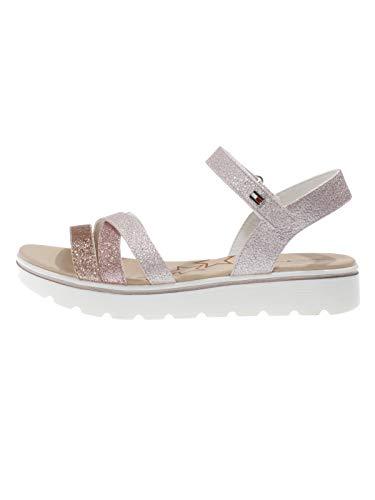 Tommy Hilfiger Kinder Schuhe Mädchen Sommer Sandalen Pink Glitzer, Farbe:Pink, Größe:EUR 37 -