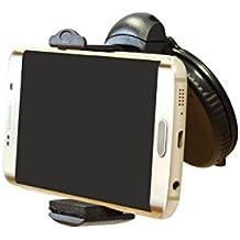 Home - Soporte de móvil con ventosa para el parabrisas del coche, apertura de hasta 8 cm, función rotatoria 360º (Smartphone, iPhone) Soporte Universal iPhone 7/7Plus/6/6s/6Plus/SE/5S, Samsung, LG, Xiaomi, Huawei- Car Holder