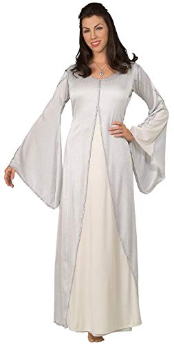 Lotr Kostüm Gollum - Rubie's LOTR TM Arwen TM Kleid für Erwachsene, Weiß (ohne Halskette) Einheitsgröße bis Größe 42