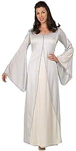 El Señor de los Anillos LOTR tm Arwen tm Adult White Dress (Necklace not included) One size fit up to Dress size 14 (disfraz)