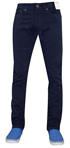 Nuovo da uomo Designer Jacksouth Skinny Fit Jeans elasticizzati in cotone twill Pantaloni Denim Navy 34W x 31L