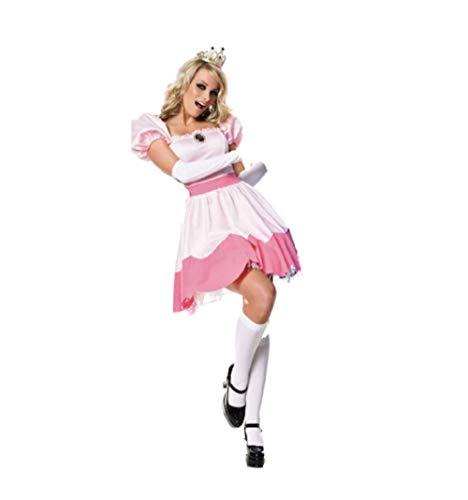 Top Totty Pink Prinzessin Peach Fantasy Wonderful Mädchen Cosplay Kostüm
