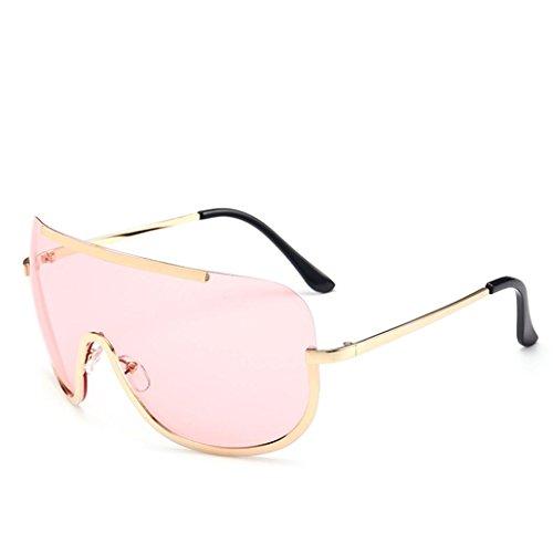 Btruely Vintage Sonnenbrille Herren Damen Polarisierte Sonnenbrille Männer Frauen Fahrbrille 2018 Klassische Sportbrille Retro Aviator Spiegel Objektiv Sonnenbrillen (Rosa)