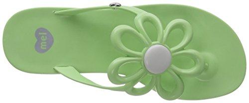 Mel Flower II Sp Ad, Tongs femme Vert (Mint)