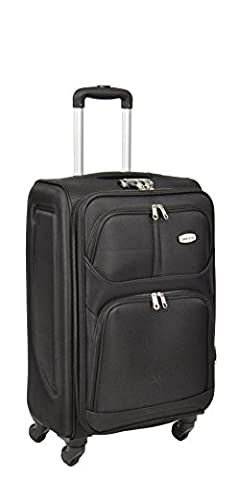 4 Wheel Suitcase Lightweight Soft Case Expandable Luggage Trolley Bags HLG001 (MEDIUM 26