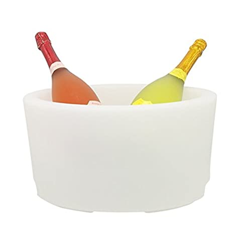 PE blanc Changement de couleur Ice Party Bucket Battery Operated TCD-2025