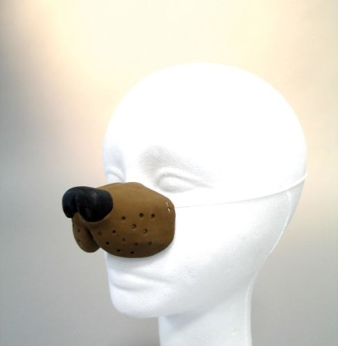 Kostüm Zubehör Latex Hundenase zu Karneval ()