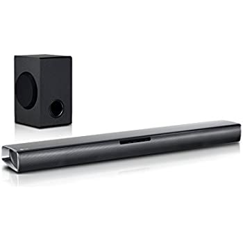 lg sj4 2 1 soundbar 300w kabelloser subwoofer bluetooth schwarz heimkino tv video. Black Bedroom Furniture Sets. Home Design Ideas