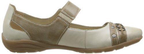 Remonte D4611 62, Chaussures de ville femme Beige (Weiss/Kiesel)