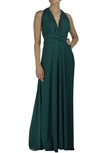 Von Vonni Transformer-Kleid, lang - One Size Fits USA 2-10 - Dark Emerald