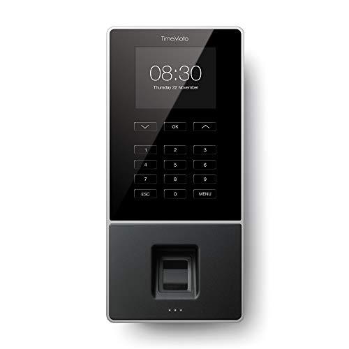 TimeMoto TM-626 - Zeiterfassungssystem mit Fingerabdruck- und RFID Leser für bis zu 200 Benutzer - Inklusive TimeMoto PC Verwaltungssoftware