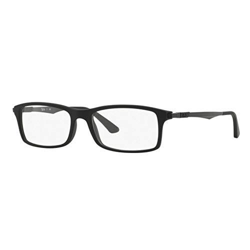 Ray-Ban Optical Montures de lunettes RX7017 Pour Homme Black, 54mm