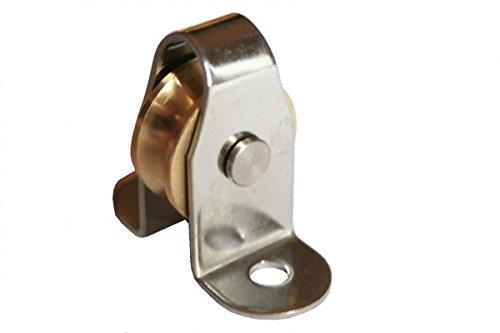 Stehblock Edelstahl Block demontierbar Umlenkrolle Seilrolle 6mm ARBO-INOX