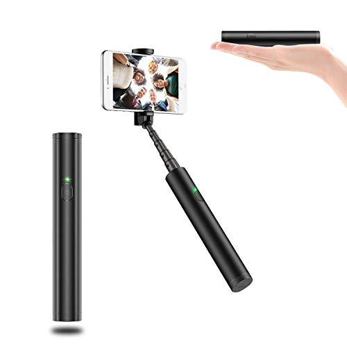 Ygl bastone selfie bluetooth, mini selfie stick compatto wireless alluminio all in one allungabile stick per telefono portatile per iphone samsung huawei, lg, altri dispositivi android ios