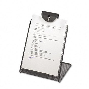 Safco Products Company saf2158bl malla copyholder- w-metal Center- 9 in. x7-.75in. x11-.75in.-negro