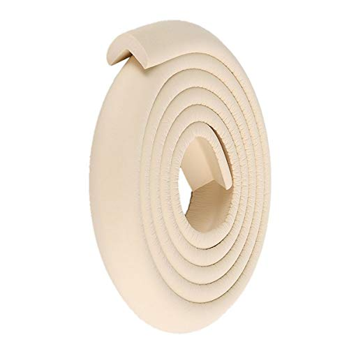 ECYC Baby Edge Corner Protection Cushion Guard Strip para muebles Mesa de escritorio 2M, Beige
