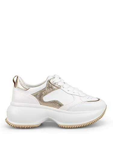 Hogan Sneaker Bianche e Oro Maxi I Active HXW4350BN50KOX0ST1 Donna 36