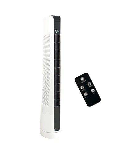 SUNTEC Turmventilator CoolBreeze 9.000 TO Sensation+ [90 cm hoch, 3 Geschwindigkeiten + Windarten, oszillierend, Timer + Fernbedienung, 50 Watt]