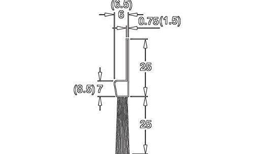 GedoTec® Profi Bürstendichtung Streifenbürste Türbürste Türbodendichtung mit dichten Besatz | Länge 2000 mm | Türdichtung Stahl-Blech - Rosshaar schwarz | Markenqualität für Ihren Wohnbereich -