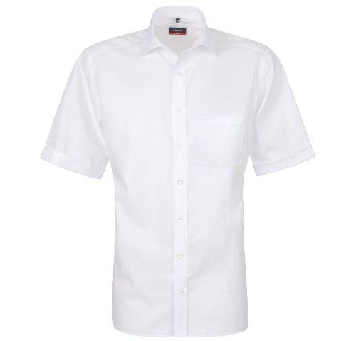 Camicia a maniche corte bianco Eterna Modern Fit 1100/C187/00 bianco 46