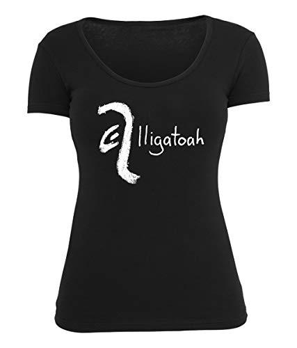 Alligatoah Girly Top Crayon Logo, Farbe:schwarz, Größe:L
