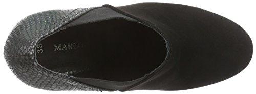 à 098 talons Schwarz du Avant 24415 femme Tozzi Chaussures Noir couvert pieds Comb Marco Black gBcTZFx