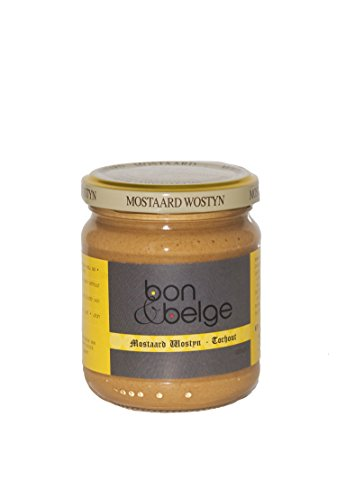Bon & belges original Delikatess-Senf, klassisch Scharf, natürliches Produkt aus Belgien, 225 g BBQ Soße