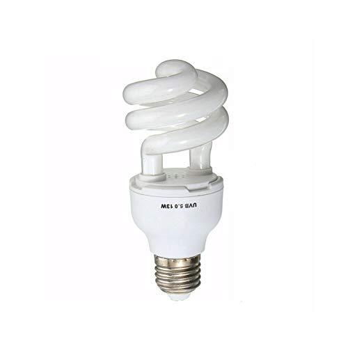 BriskyM UV-Reptilienbirne zur Pflege von Reptilien 5.0/10.0 UVB Compact Light Terrarium (13w uvb5.0, OneSize) -