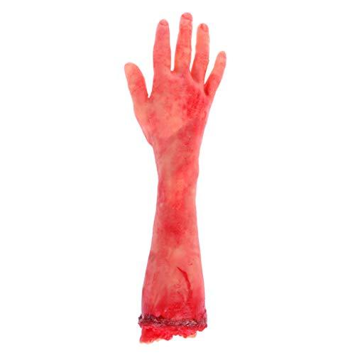 Cuigu Modeschmuck, aus Kautschuk, falsche Organe, falsche Hände, Gehirn, falsche Fingernägel, Halloween-Dekoration, 8# Bras Moyen, M