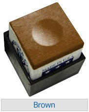 Box von 12Silver Cup Billardkreide Tan Silber Becher Kreiden