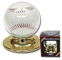 2 Round Plastic Baseball Holder with Gold Base (Ball Protection) - 2 HOLDERS by BCW
