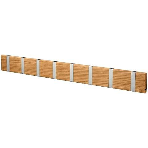 Knax Clothes Rail with 8 Hooks / Oiled Oak by Knax LoCa