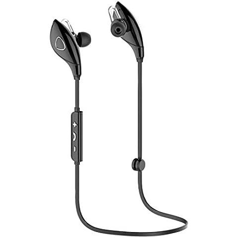Negro,Koly Bluetooth estéreo inalámbrico Deportes Auriculares manos libres para el teléfono