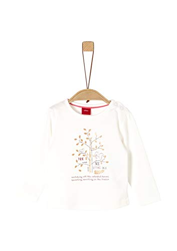 s.Oliver Baby-Mädchen 65.909.31.8966 T-Shirt, Elfenbein (Ecru 0210), (Herstellergröße: 92)